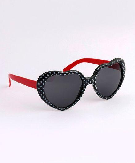 Babyhug Heart Shape Sunglasses - Black Red