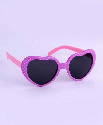 Babyhug Heart Shape Sunglasses - Purple Pink