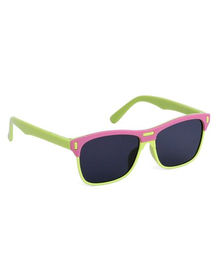 Babyhug Wayfarer Kids Sunglasses - Pink Green