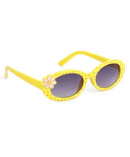 Babyhug Kids Sunglasses Flower Design - Yellow