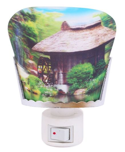 Skylofts EU Plug 3D Forest Design Night Lamp - Multicolor