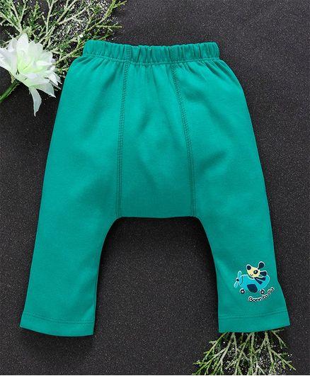 Babyhug Full Length Cotton Diaper Leggings - Sea Green