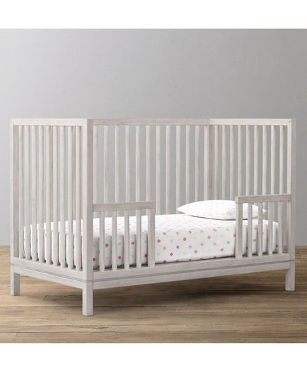 The Baby Atelier Fitted Crib Sheet Shaded Dot Print - White