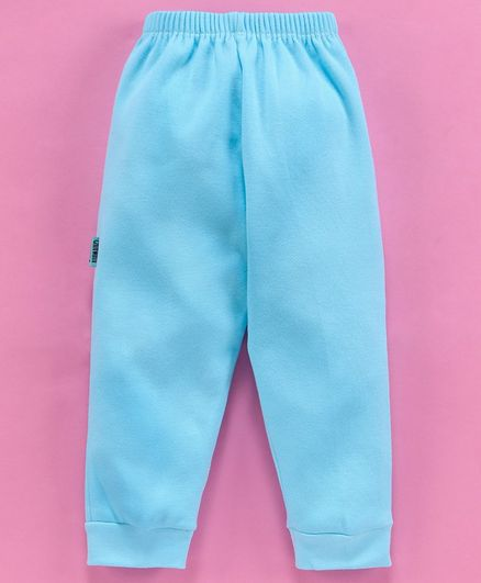 Child World Solid Color Full Length Lounge Pant - Turquoise Blue
