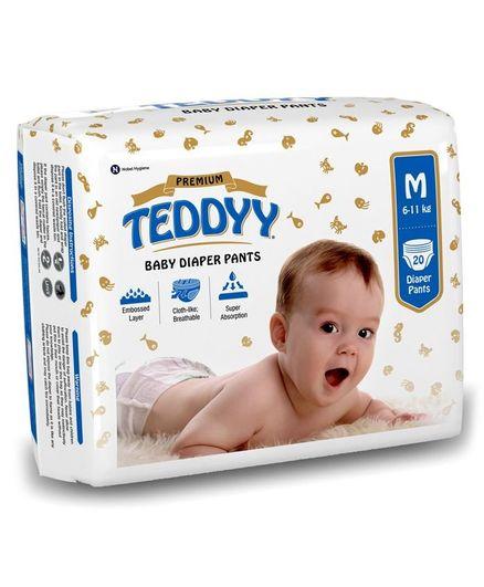 Teddyy Baby Premium Pant Style Diapers Medium - 20 Pieces
