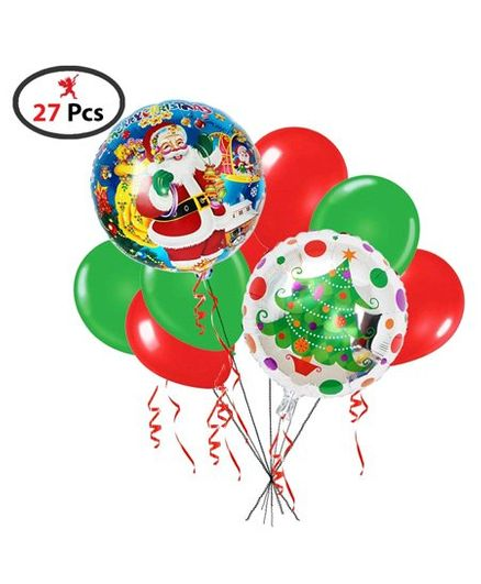 Party Propz Christmas Foil & Latex Balloon - 27 Pieces