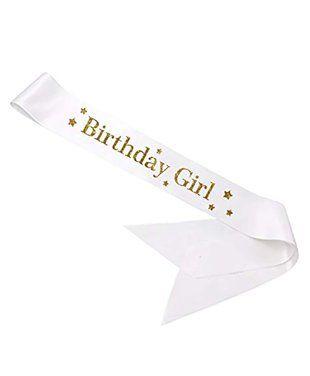 Party Propz Birthday Girl Sash - White