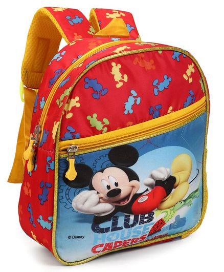 Disney Mickey Mouse Club House School Bag Blue   Red - Height 11.6 inches 31792c5e82a89