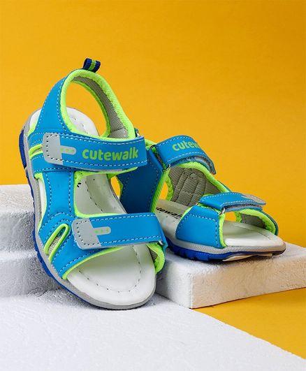 Cute Walk by Babyhug Sandals - Aqua Blue