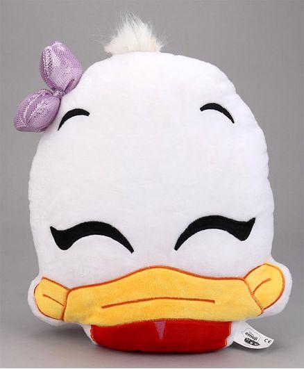 Disney Daisy Duck Face Plush Cushion - White Yellow