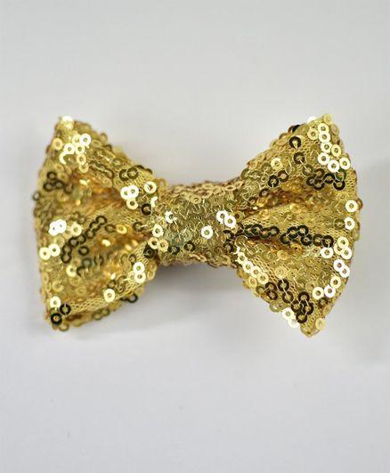 Little Miss Cuttie Shimmer Hair Clip - Gold