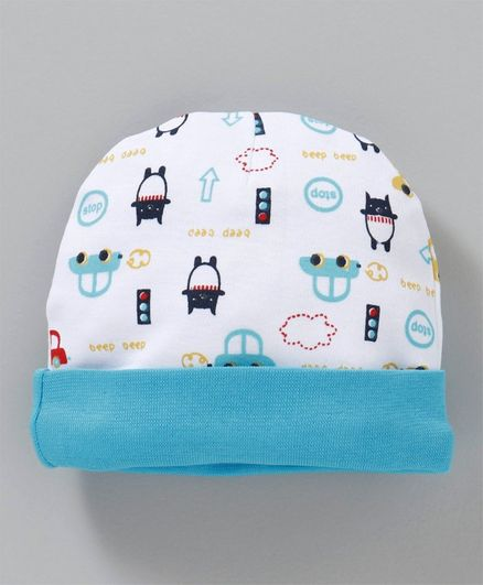 Babyhug Cotton Cap Tree Print White Blue Online in India be015b864a40
