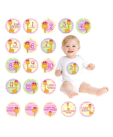 Party Propz Baby Monthly Milestone Stickers Multicolour - 19 Pieces