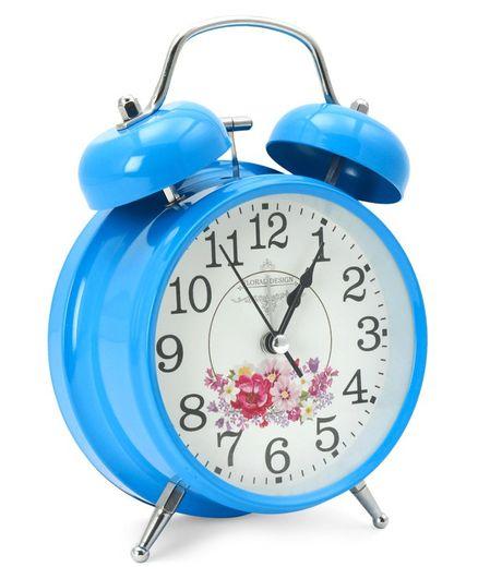 Round Shape Analog Alarm Clock - Blue