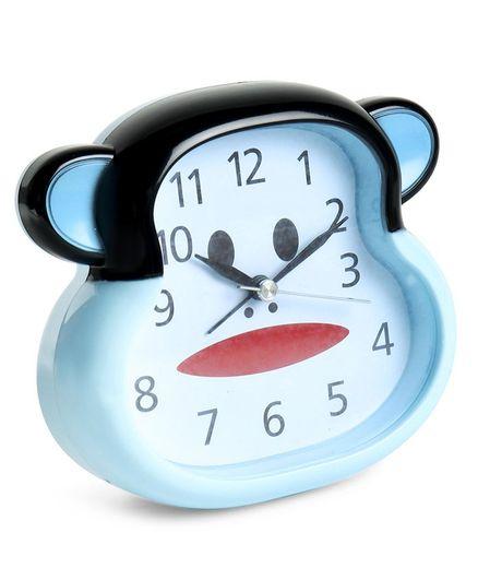 Monkey Face Shape Alarm Clock - Blue Black