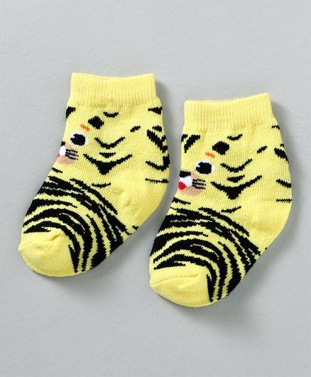 Cute Walk by Babyhug Non Terry Antibacterial Ankle Length Socks - Yellow