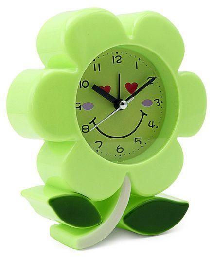 Flower Shaped Analog Alarm Clock - Green