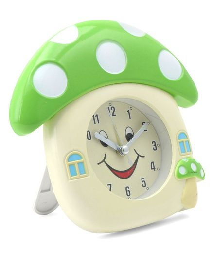 Mushroom Shaped Analog Alarm Clock - Cream