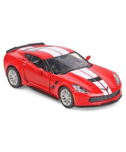 RMZ Die Cast Pull Back Chevrolet Corvette C7 Special Edition -Red