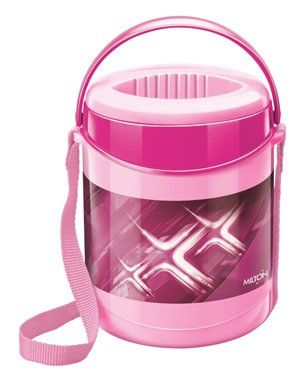 Milton Insulated Lunch Box With 3 Steel Containers - Pink