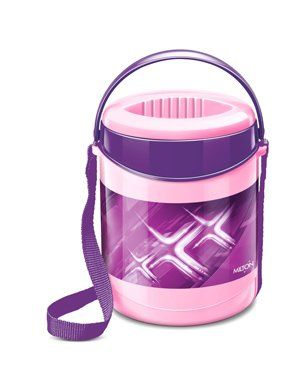 Milton Insulated Lunch Box With 3 Steel Containers - Purple