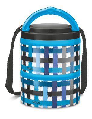 Milton Microwow Insulated Lunch Box With 2 Stainless Steel Containers Blue - 250 ml