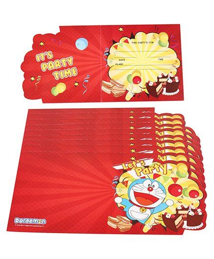 Doraemon Invitation Cards - Pack of 10