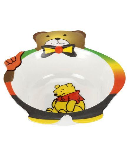 Passion Petals Bear Shape Melamine Feeding Bowl - Multi Colour