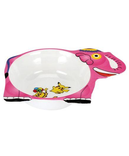 Passion Petals Elephant Shape Melamine Feeding Bowl - Pink