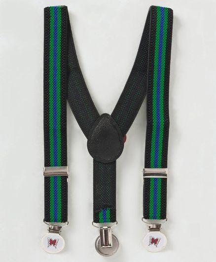 Babyhug Y Shape Suspenders - Green & Black