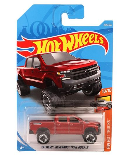 Hot Wheels 19 Chevy Silverado Trail Boss Lt Toy Truck Red For 3 8