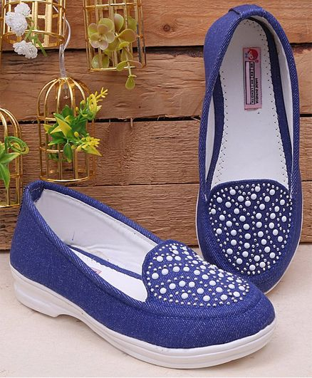 Dchica Beads Embellished Loafers - Blue