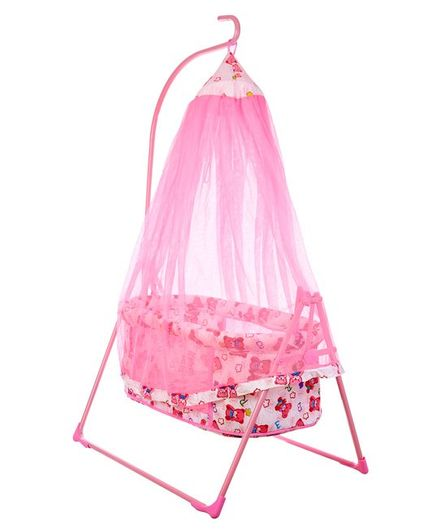 funBaby Cozy Dreams Cradle With Mosquito Net - Pink