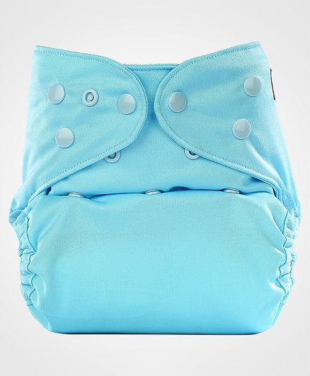 Bumberry Diaper Cover With Attached Insert - Blue