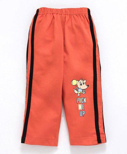Tango Full Length Track Pant Animal Print - Orange