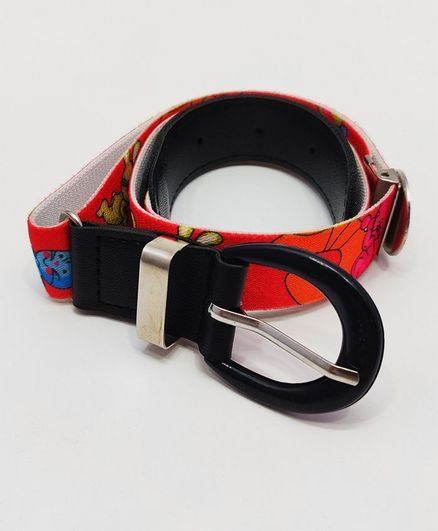 Kid-O-World Stretchable Belt With Buckle Closure - Red
