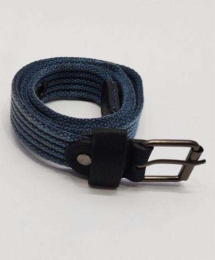 Kid-O-World Ribbed Textured Belt With Buckle Closure - Blue
