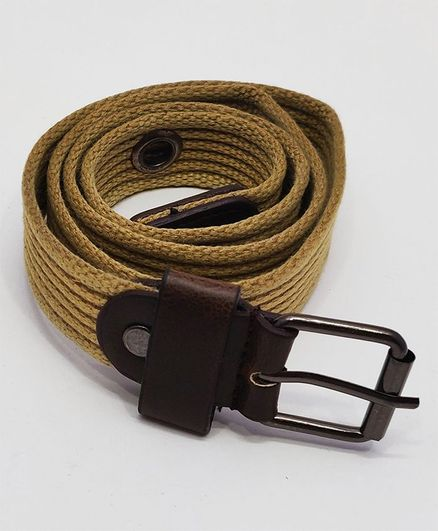 Kid-O-World Ribbed Textured Belt With Buckle Closure - Cream