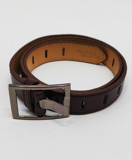 Kid-O-World Broad Buckle Belt - Dark Brown