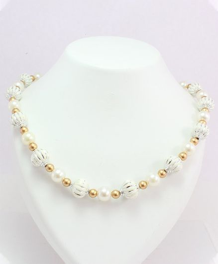 Milyra Pretty Pearls Necklace - Golden