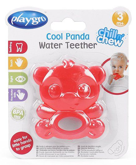 Playgro Cool Panda Water Filled Teether - Red