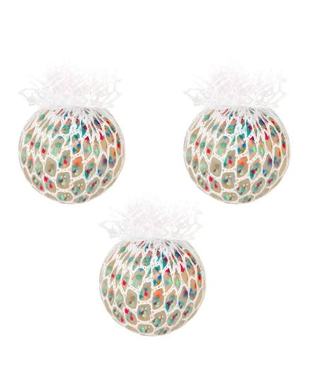 Party Propz Stress Relief Squeeze Hand Wrist Toy Balls - Pack of 3