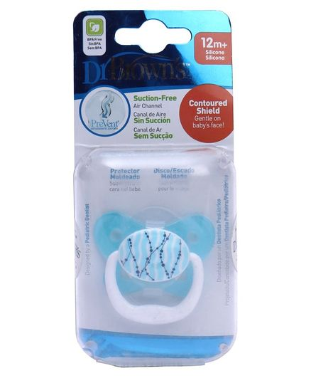 Dr Browns Printed Butterfly Shield Pacifier Stage 2 - Blue