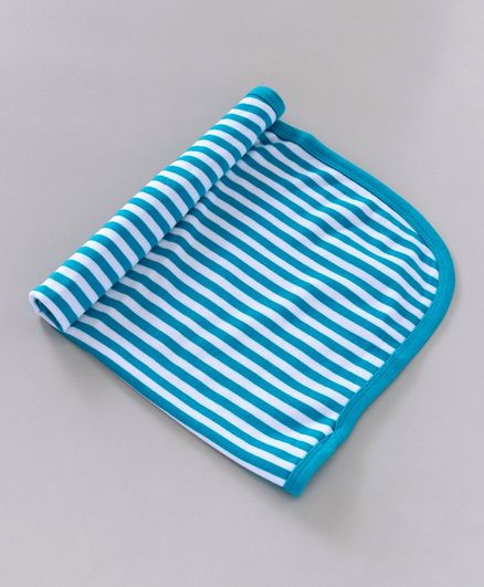 Simply Striped Towel - Light Blue
