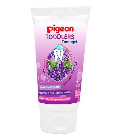 Pigeon Toddlers Toothgel Grapes Flavoured - 50 gm