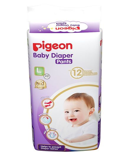 Pigeon Ultra Premium Large Size Baby Diaper Pants - 32 Pieces