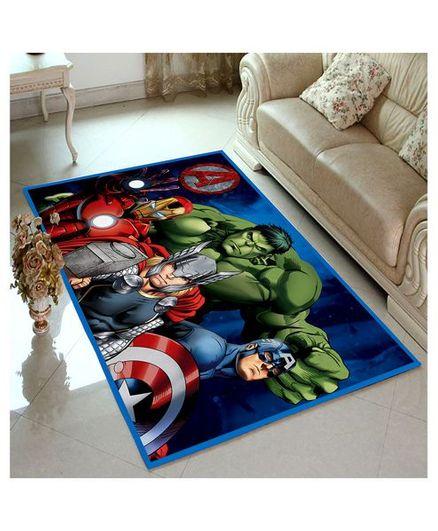 Athom Trendz Marvel Avengers Carpet - Blue