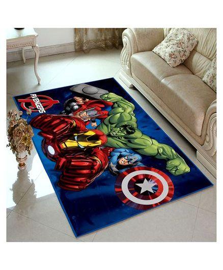 Athom Trendz Marvel Avengers Carpet - Blue Red