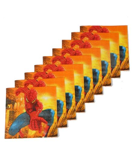 Funcart Spiderman Themed Paper Napkins Set of 9 - Yellow
