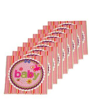 Funcart Butterfly Baby Theme Virgin Wood Pulp Napkins Multicolor - Pack of 9